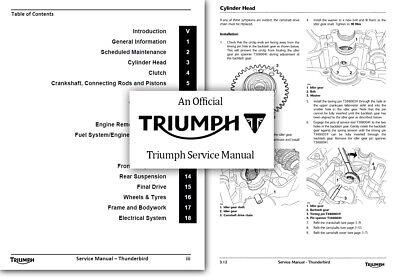 Triumph Thunderbird 1600 1700 Workshop Service Shop Manual