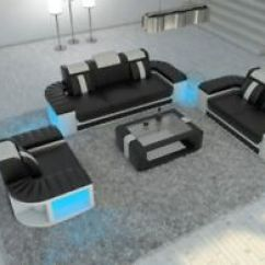 Y Sofa Leather Sofas Big Lots Design Set 3 2 1 Boston Couch With Led Lights And Functional La Foto Se Esta Cargando