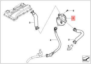 Genuine BMW E87 E90 E91 Oil Separator Breather Cold