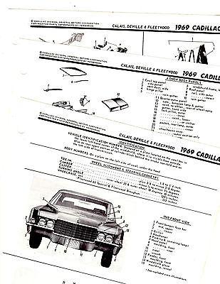 1969 CADILLAC DE VILLE FLEETWOOD CALAIS 69 MOTOR'S BODY