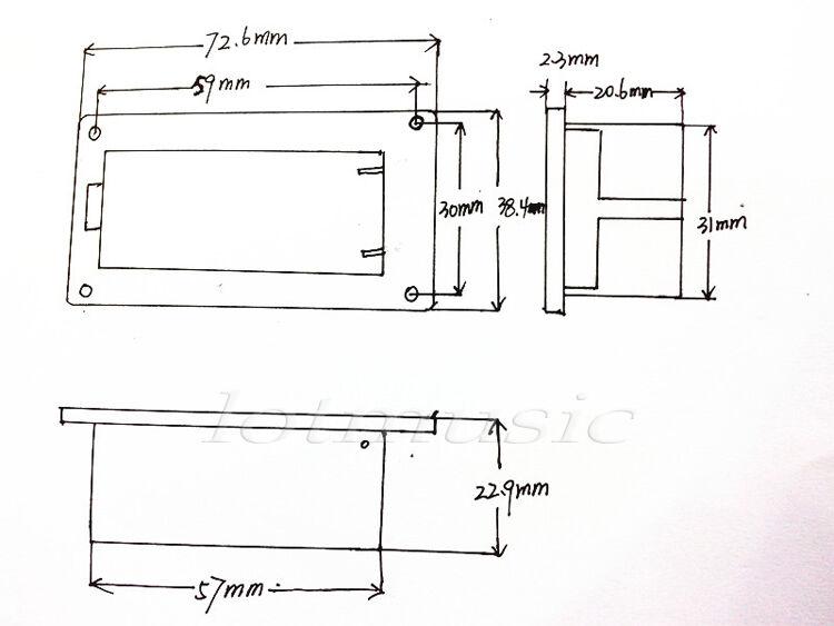 20* 9V Battery Holder Case Box For Active Guitar Bass