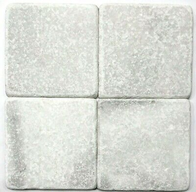carrara white 4x4 tumbled marble tile backsplash floor wall sold by the piece ebay