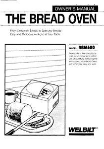 Welbilt ABM600 Bread Machine Operator Instruction
