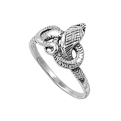 .925 Sterling Silver Serpent Snake Knot Fashion Ring Size