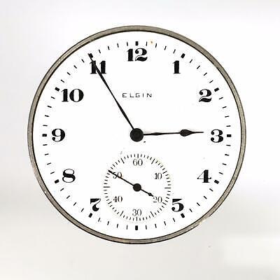 Vintage 1918 Elgin 17 Jewel Mechanical Watch Movement Runs