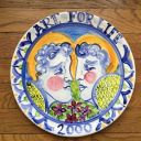 Alfredo Ratinoff signed studio pottery platter listed artist