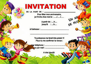 details about 5 12 or 14 birthday invitation cards child game ref 428 show original title