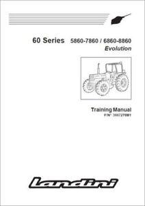 LANDINI SERIE 60 5860 6860 7860 8860 EVOLUTION Training