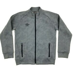 Download Umbro Jacket Boy's Size Medium 8-10 Gray Mock Neck Full ...