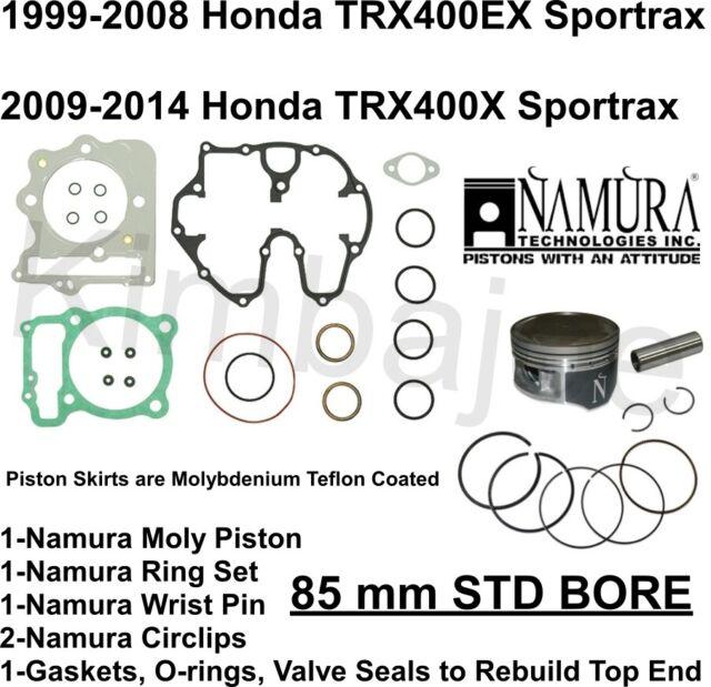 Honda TRX400EX TRX400X Listed 85 mm STD BORE Namura Moly