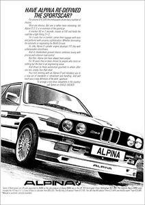 BMW E30 ALPINA C1 RETRO A3 POSTER PRINT FROM CLASSIC 80's