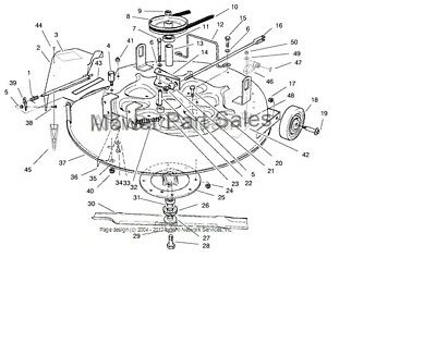 Toro Wheel Horse 8-25 arrière moteur Rider Cutter Ceinture