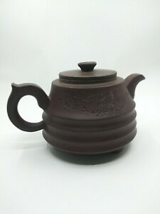 Chinese red clay Zisha Yixing Teapot China 10 cm 3+in signed marked