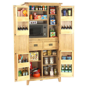 kitchen furniture store trash can size vancouver oak 2 door larder food nb099 image is loading