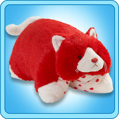 authentic pillow pets valentine cat large 18 plush toy gift ebay