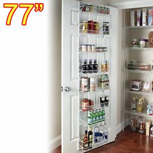 details about pantry door spice rack organizer over the door shelf kitchen hanging wall mount