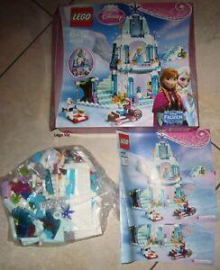 details sur lego 41062 disney reine des neiges elsa sparkling ice castle notice boite cnb85