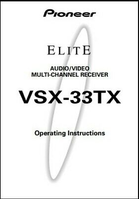 Pioneer Elite VSX-33TX AV Receiver Owner's Manual