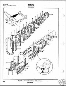 P-38 LIGHTNING PARTS MANUAL IPC VERY RARE HISTORIC DETAIL