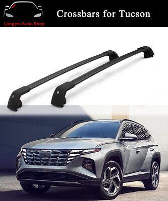 fits for hyundai all new tucson 2021 2022 roof rail racks cross bars crossbars ebay
