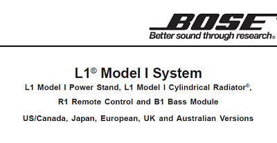 BOSE L1 MODEL I SYSTEM B1 BASS MODULE PWR STAND CYLINDDR
