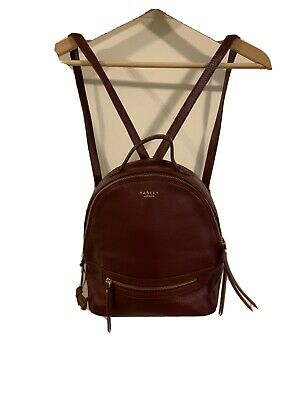 RADLEY LONDON SMALL ZIP-TOP BACKPACK. Burgundy. Pre-owned. Very Good Condition | eBay