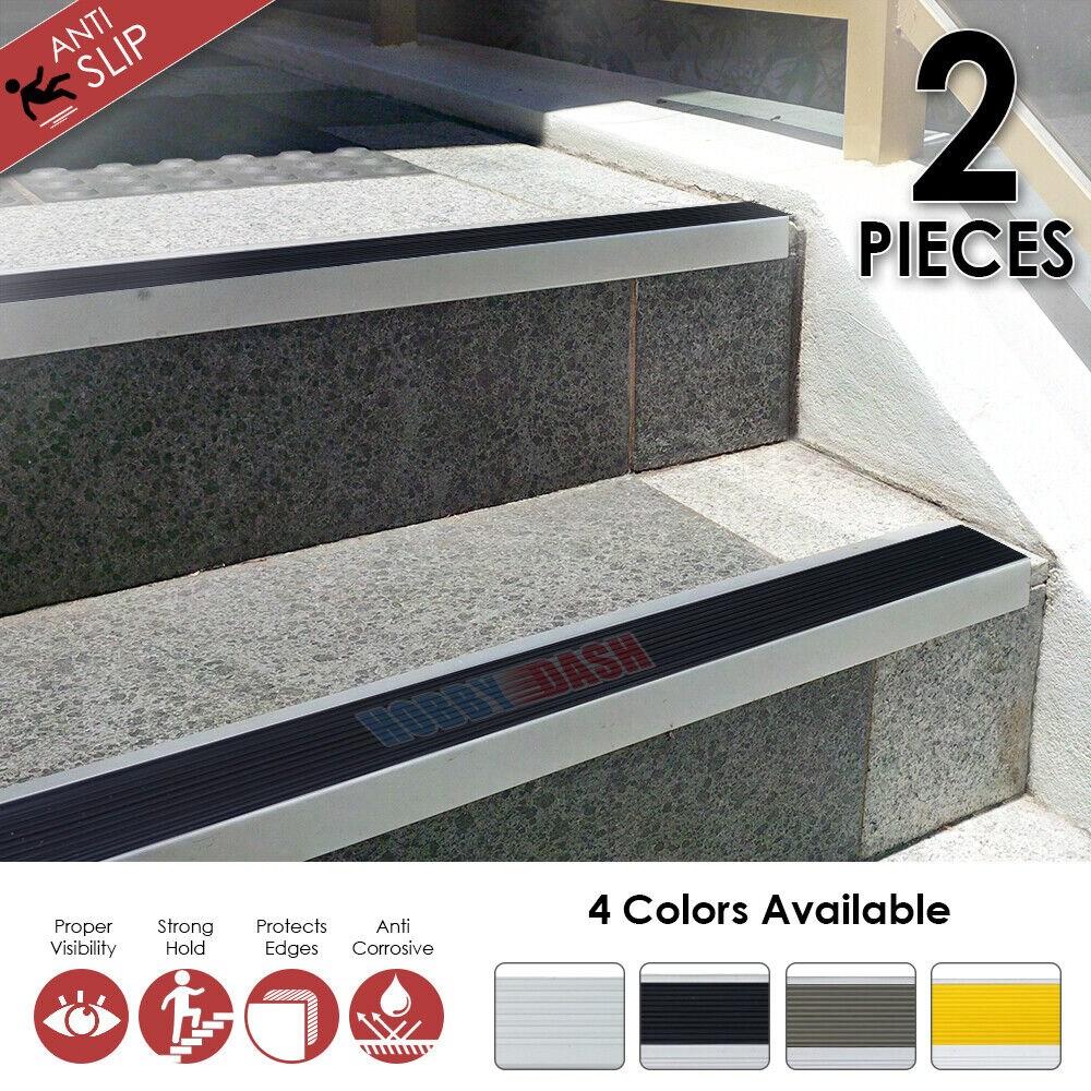 Aluminium Stair Nosing Edge Trim Step Nose Edging Nosings Carpet | Non Slip Nosing For Carpeted Stairs | Brown Cinnamon | Stair Tread Nosing | Aa123 | Laminate Flooring | Slip Resistant
