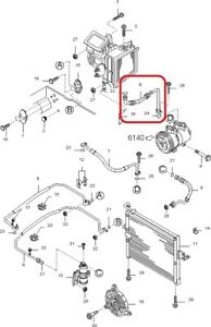AC Discharge Flexible Hose Assy GENUINE KIA 0K01B61459A