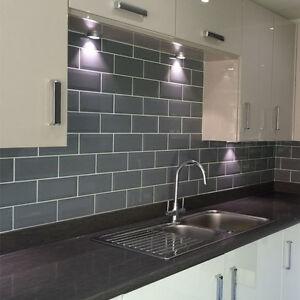 grey kitchen tile banquette metro brick effect polished ceramic wall tiles sample ebay image is loading