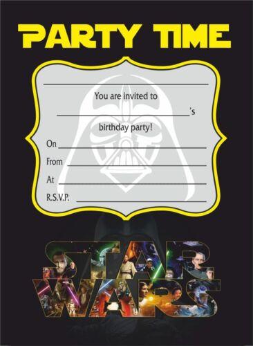 packs de 10 20 30 40 star wars invitations affiches cartes bannieres