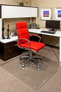 ergonomic chair mat recliner vs with ottoman clearly innovative glass mats for home or office w beveled image is loading
