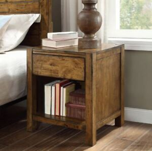 details about rustic end table farmhouse reclaimed barn wood nightstand side accent furniture