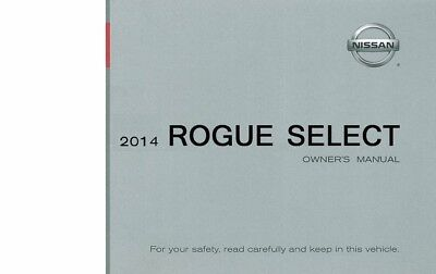 2014 Nissan Rogue Select Owners Manual User Guide