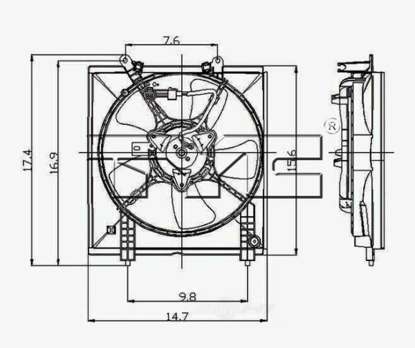 Engine Cooling Fan Assembly TYC 600510 fits 2002