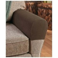 Sofa Arm Rattan Effect Grey Corner Set Armrest Covers Stretchy 2 Piece Chair Or Protectors Image Is Loading