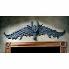 Grey Stone Dragon Wall Sculpture In Out Door Gothic Medieval Home Garden Decor for sale online