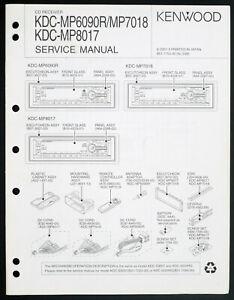 Kenwood Kdc-Mp6090r/Mp7018/Mp8017 Original Service Manual