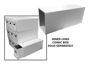 Comic House Long Box File Drawer for Books with Inner Support Stack Storage New