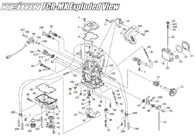 KTM 625 640 660 LC4 CARBURETOR / Jet Needle / DIAGRAM PART