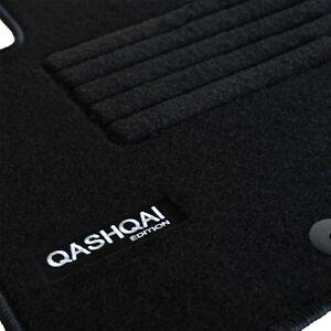 details sur 4 tapis sol nissan qashqai 2 j11 apres 11 2013 moquette sur mesure logo blanc