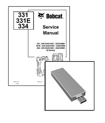 Bobcat 331 E, 334 G-Series Excavator Service Repair Manual