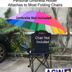Chair With Umbrella Attached Table And Two Chairs Set Byo Shade My Holder Black Personal Attach Image Is Loading