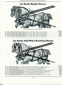 1950 Print Ad of Jim Dandy Horse Nickel Breeching & Russet