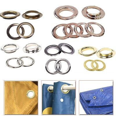 30 40mm 10pcs brass eyelets grommet with washer for diy curtains banners drapes ebay