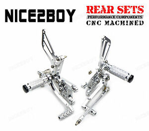 CNC Billet Rearset Kit Rear Sets For Suzuki GSX-R750 K1 K2