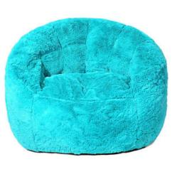 Target Bean Bag Chairs Toddler Best Message Chair Faux Fur - Teal | Ebay