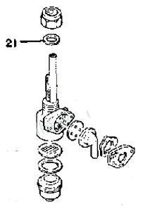 YAMAHA FUEL VALVE PETCOCK BASE GASKET TY250 TY175 DT125