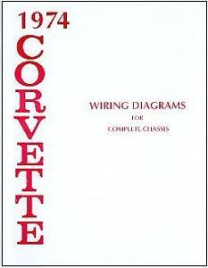 1974 74 CORVETTE WIRING DIAGRAM MANUAL | eBay