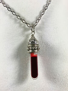 Vampire Jewelry : vampire, jewelry, Handmade, Unique, Gothic, Vampire, Glass, Blood, Pendant, Necklace