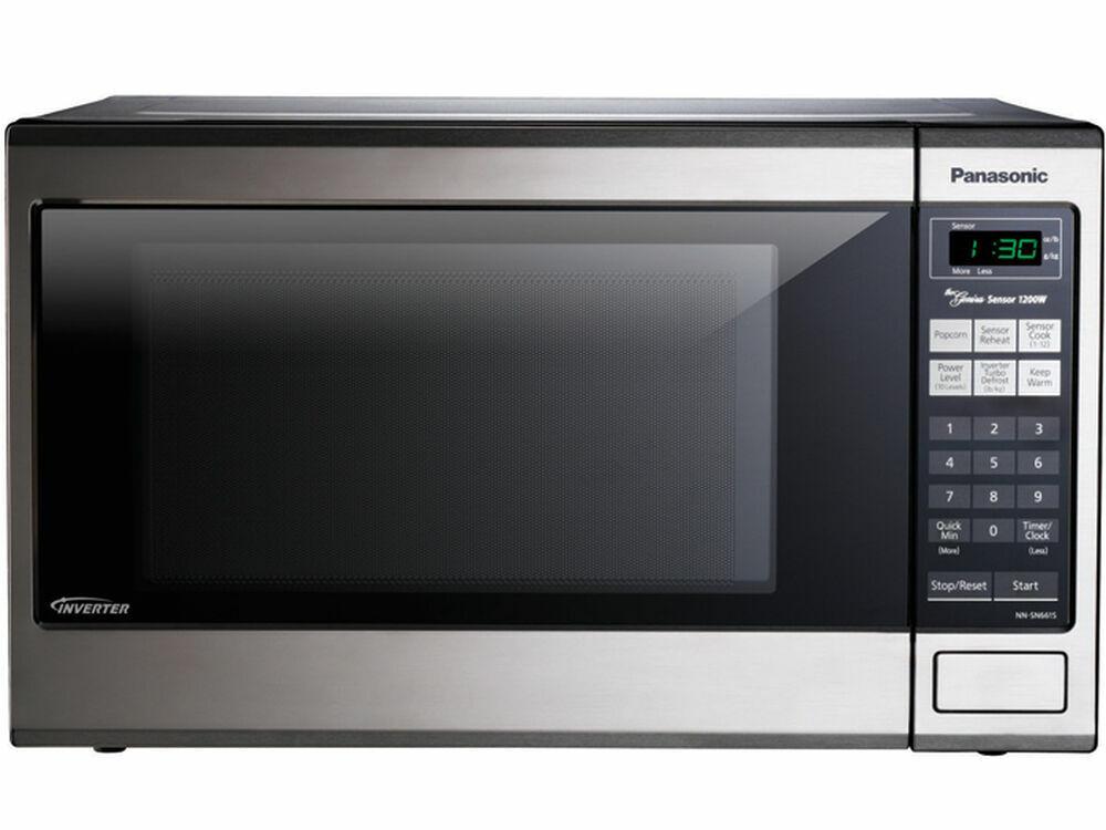 panasonic nn sa651s 1 2 cu ft microwave oven with inverter technology
